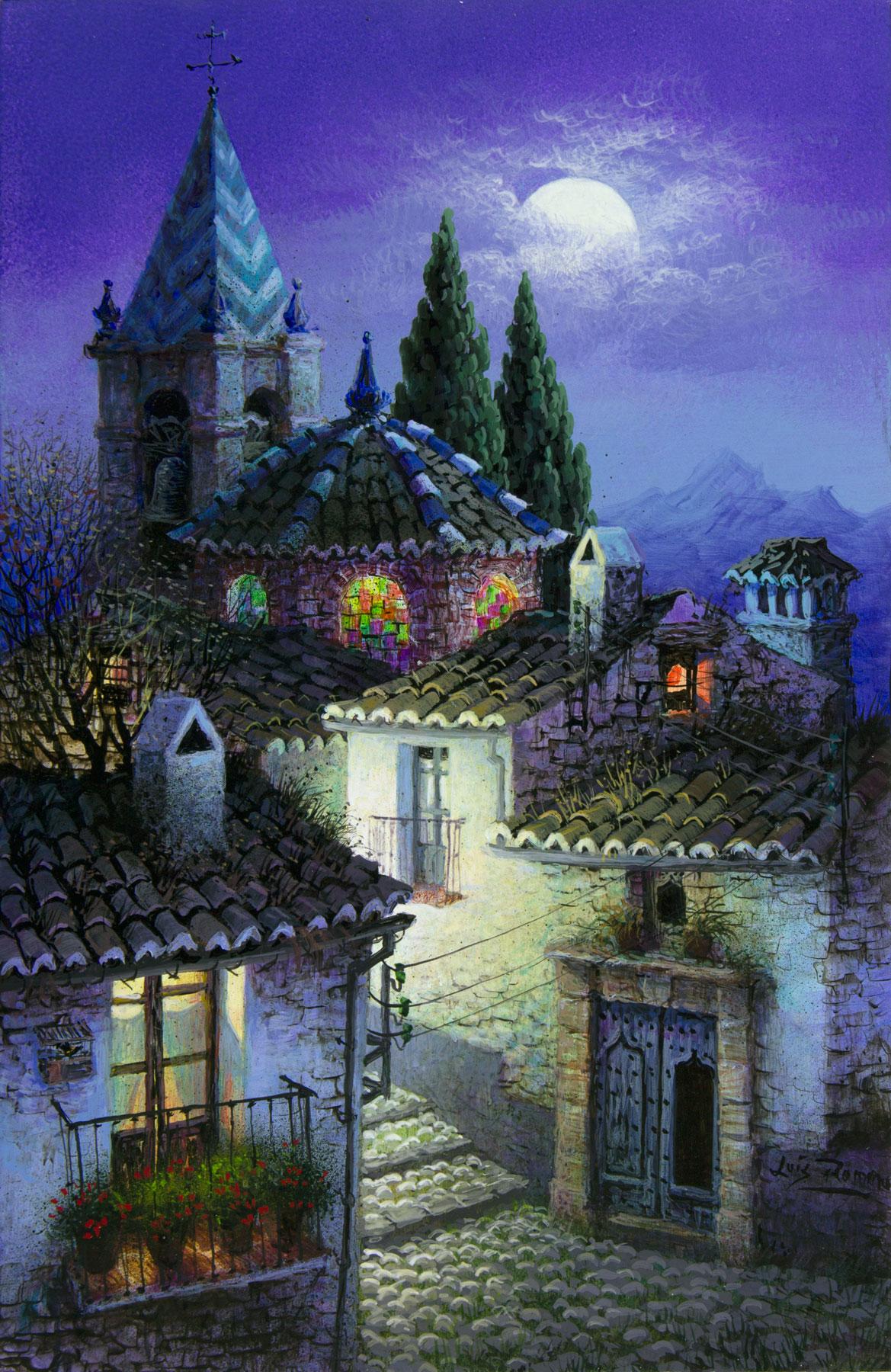 Calle arriba - nocturno